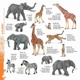 Wildtiere der Welt Set E