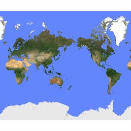 Große Weltkarte