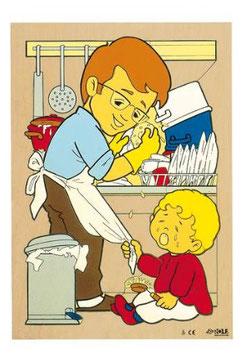 Puzzle Tägliches Leben Geschirr abwaschen
