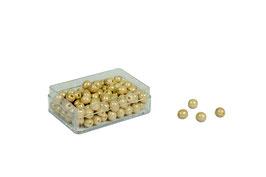 Plastikdose mit 100 goldenen Einerperlen - Lose Perlen (Glas)