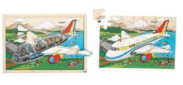 Einblickpuzzle Auf Reisen Flugzeug