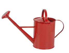 Kleine Giesskanne aus Metall, Rot
