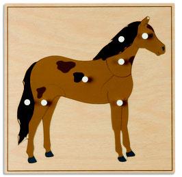 Tierpuzzle - Pferd