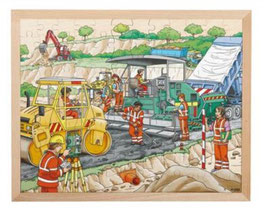 Puzzle Beim Straßenbau