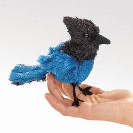 Folkmanis Fingerpuppe mini Vogel mit blauem Schopf, Diademhäher