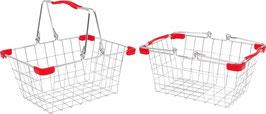 Metalleinkaufs- und Fahrradkorb