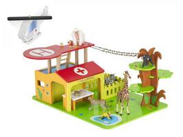 Papo Im Dschungel-Krankenhaus-Set mit 3 Figuren