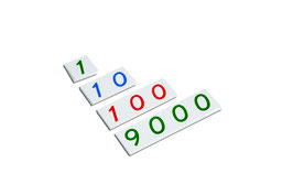 Kleine Zahlenkarten 1 - 9000 (Kunststoff)