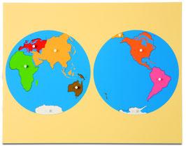 Puzzlekarte Erdteile - Blick auf Asien