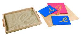 Kasten mit Sand für Schreibübungen