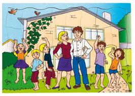 Familie und ihr neues Haus