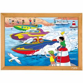 Power puzzle - Schnellbootrennen