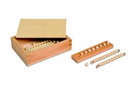 Kasten mit Zehnerstäbchen und Einerperlen - Lose Perlen (1 Satz - Glas)