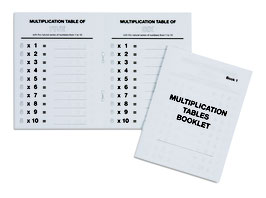 Multiplication Tables Booklet (ENGLISCHE VERSION)