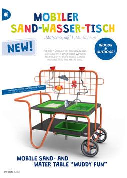 "Mobiler Sand & Wasser Tisch ""Matsch Spaß"