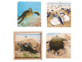 Wachstumspuzzle, Schildkröte 86 Teilig