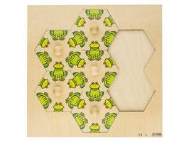 Puzzle Frosch einsetzen. 7 Stck.