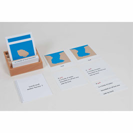 Nomenclature Cards Land And Water Forms: Set (ENGLISCHE VERSION)