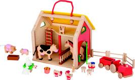 Koffer Farmhaus mit Zubehör