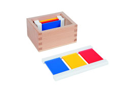 Farbtäfelchen - 2 mal 3 Farben