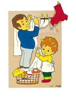 Puzzle Tägliches beim Wäsche aufhängen