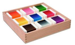 Farbtäfelchen - Schattierungskasten mit 9 Farben