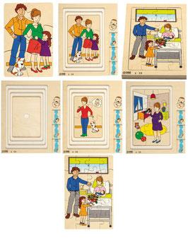 Puzzle Mutter und Baby Von Schicht zu Schicht entdecken