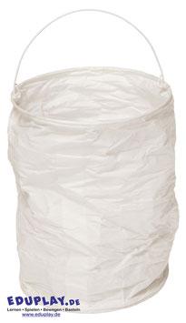 Papierlampions zylindrisch, weiß, 6er Set, groß