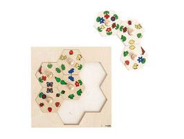 Puzzle Natur zum einsetzen. 7 Stck.