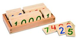 Kleine Zahlenkarten im Kasten 1 - 9000 (Holz)