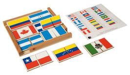 Flaggenpuzzle Nord- und Südamerika