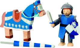 Biegepuppe Ritter Lancelod mit Pferd