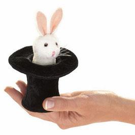 Folkmanis Fingerpuppe mini Kaninchen im Zylinder