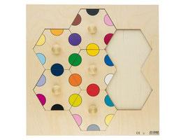 Puzzle Bunte Kreise zum einsetzen. 7 Stck.