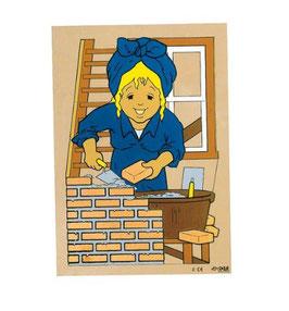 Puzzle Tägliches beim Mauern