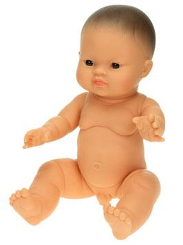 """Babypuppe Junge """"Asiatisch"""" aus Vinyl, ohne Haare 30 cm"""