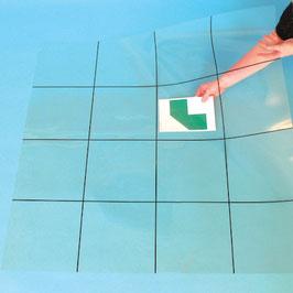Bodenmatte – durchsichtige Matte mit Raster
