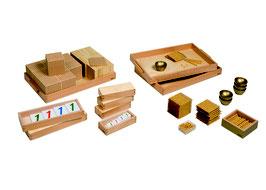 Goldenes Perlenmaterial mit Kartensätzen - Lose Perlen (Kunststoff)
