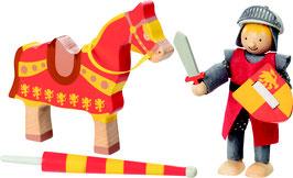 Biegepuppe Ritter Artus mit Pferd