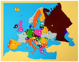 Puzzlekarte Europa