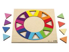 Relief Puzzles Entdecke Grössen und Formen Regenbogenkreis