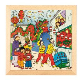 Puzzle Feierlichkeiten, Chinesisches Neujahr Format: 28 x 28 cm, jeweils 36 Teile