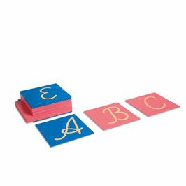 Sandpapiergroßbuchstaben - lateinische Ausgangsschrift (internationale Version)