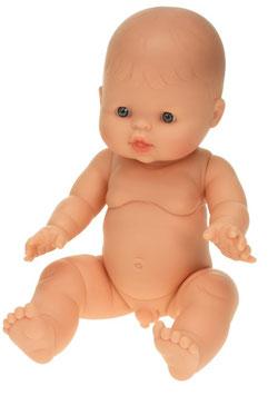 """Babypuppe Junge """"Europäisch"""" aus Vinyl, ohne Haare 30 cm"""