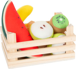 Stoff-Früchte-Set mit Kiste