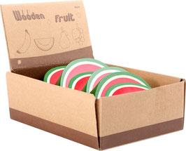 Display Wassermelone aus Holz
