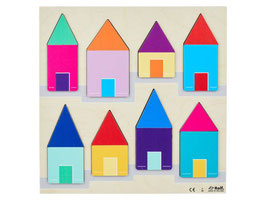 Reliefpuzzle entdecken Sie die Größe: ein Dach über jedem Haus, 16 Teile