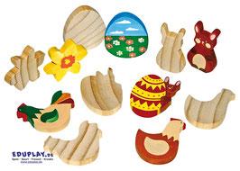 Holzfiguren Ostern