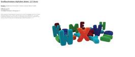 """Großbuchstaben-Alphabet (klein)  2,5""""(6cm) 20096"""