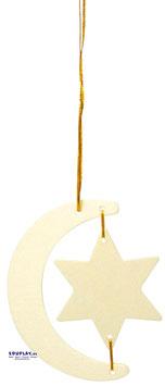 Weihnachtsanhänger aus Holz 12-tlg